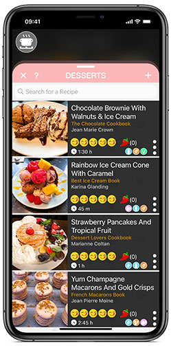 The Recipe Selfie cooking app is packed with features for organizing all your recipes.